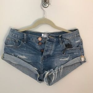 One Teaspoon Denim Shorts sz25